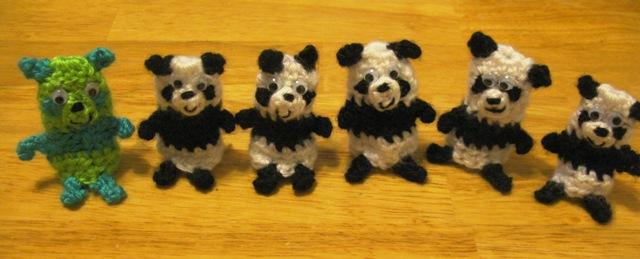 pandas in line