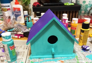 birdhouse blue