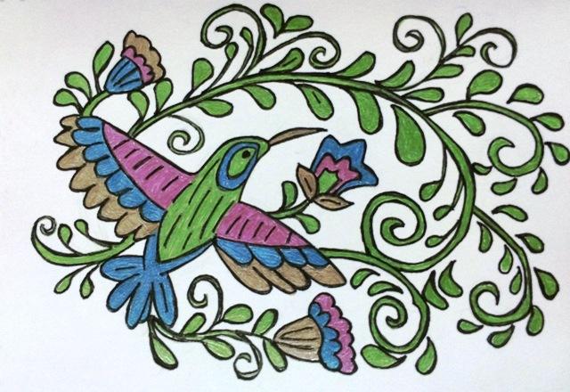 green humming