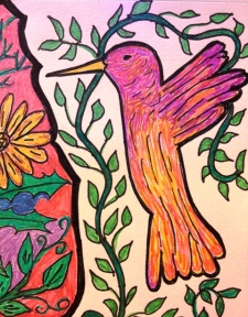 hummingbird drawing 2