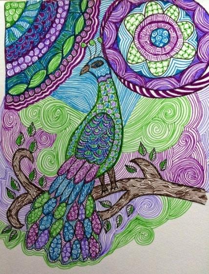 felt-pen-peacock