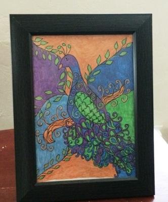 framed-peacock