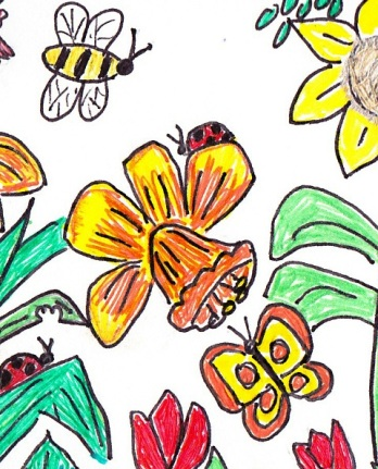 bee-with-daffodils