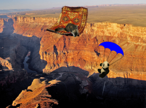 panda parachuting 2