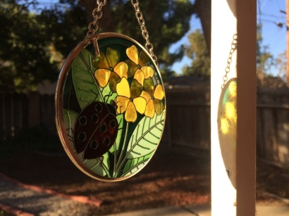 yellow suncatcher