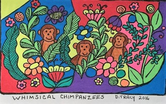 whimsical chimpanzees