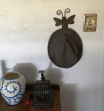hat on butterfly hook