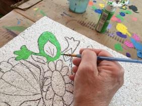 painting lizard