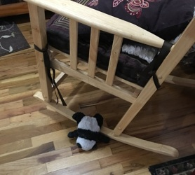 panda and rocking chair