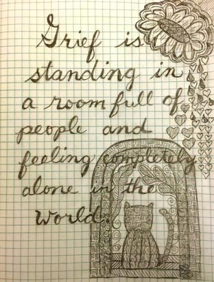 grief doodle