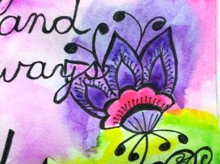 purple watercolor