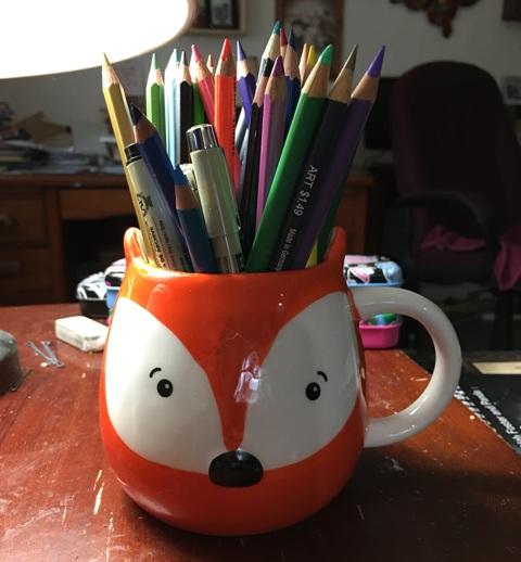 fox pencil holder