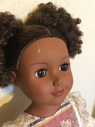 scratched doll
