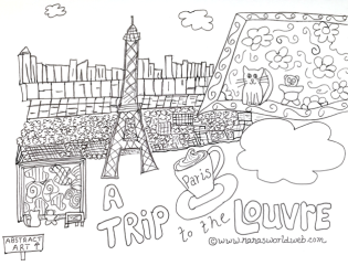 Louvre coloring 628x480
