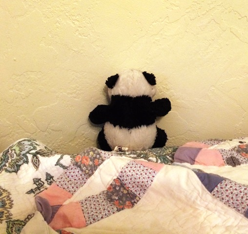 panda in time out