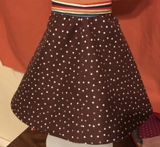 brown side of skirt