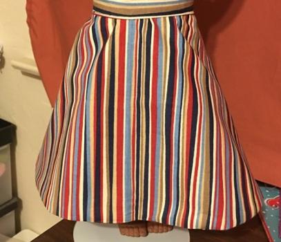 striped side