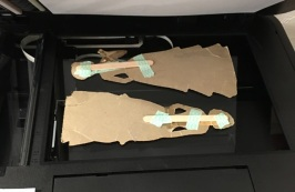 dolls on printer