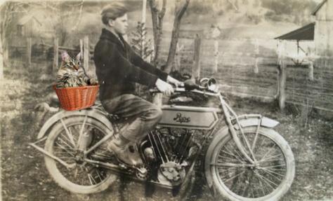 facing forward motorcycle
