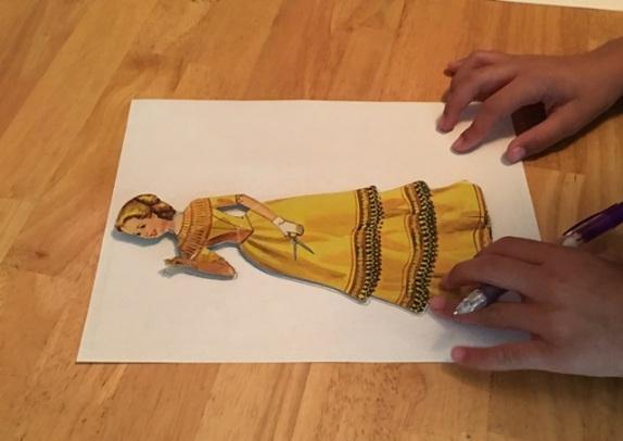 Jenna drawing dress