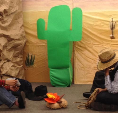 cactus with boys
