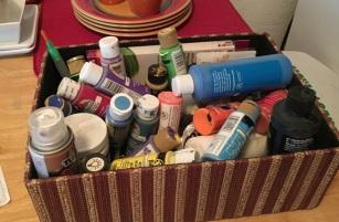 basket of paints