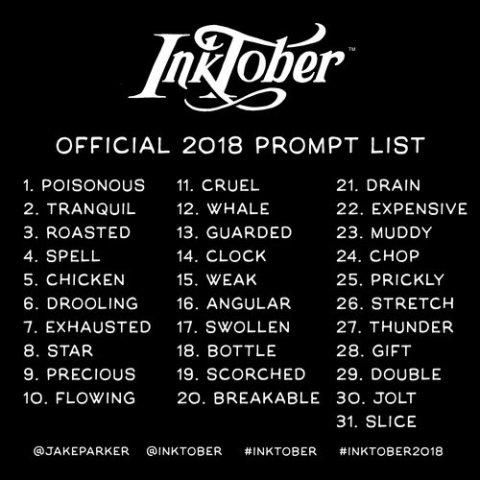 Inktober list