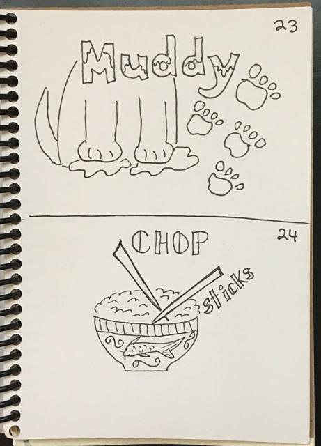 muddy, chop