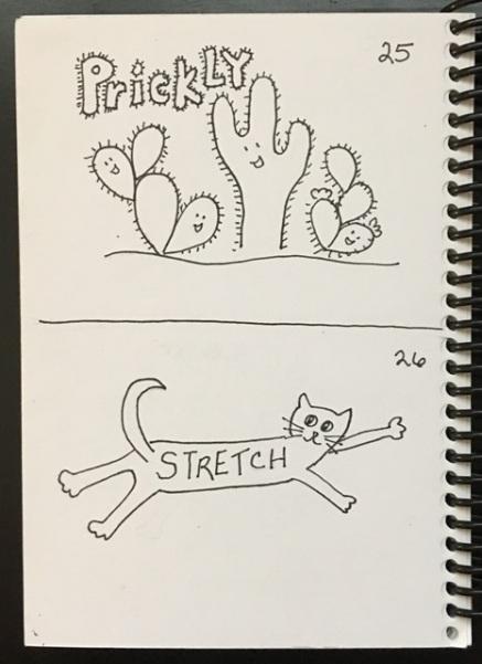 prickly, stretch