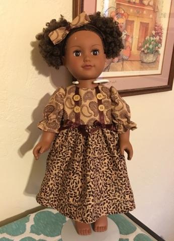 Belle brown dress