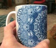 blue zazzle cup