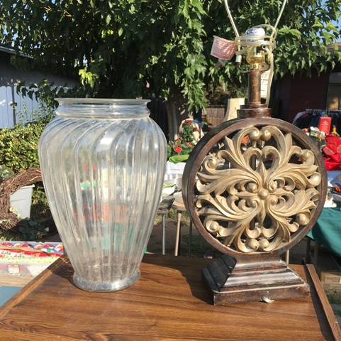 vase at yard sale