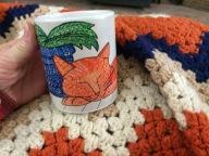 Zazzle cup orange cat