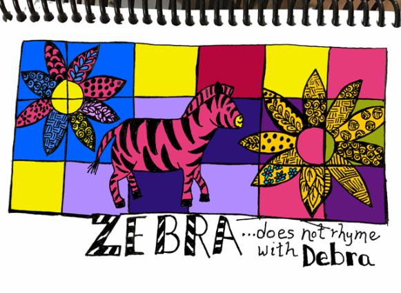 zebra multicolor sm