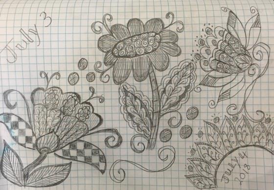 July 4 flowers