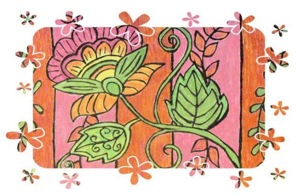 boho flower frame
