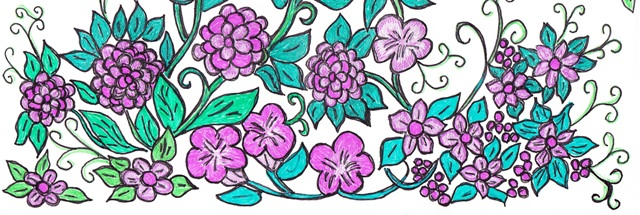 purple flowers cut out