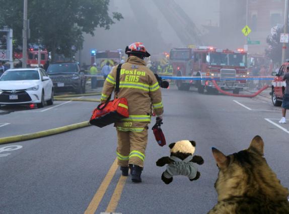 a following firefighter