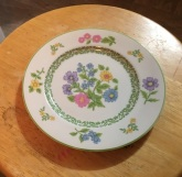 flowered plate