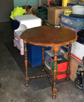 table in garage