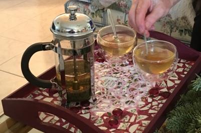 stirring tea