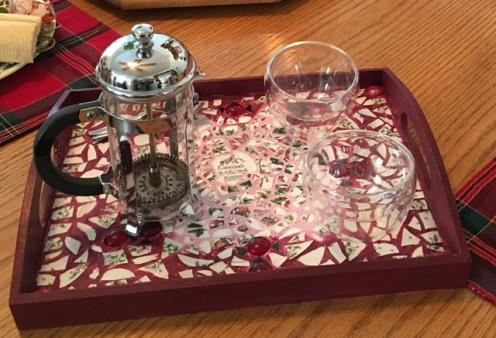 tea cups on tray