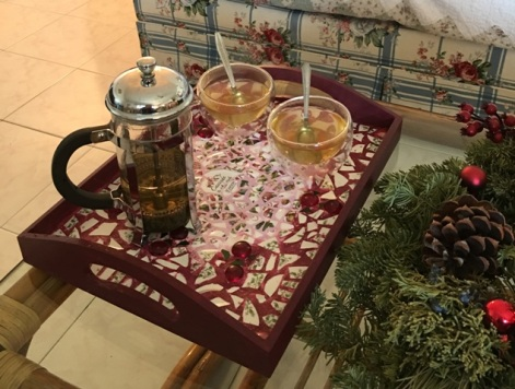 with tea