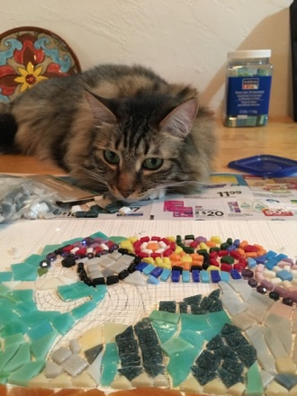 Foster watching mosaic