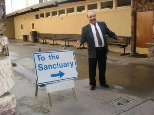 sanctuary sign